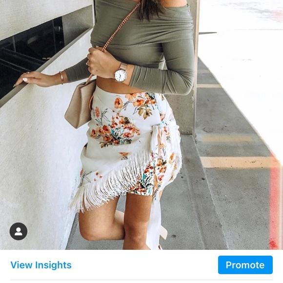 Majorelle Fringe Skirt